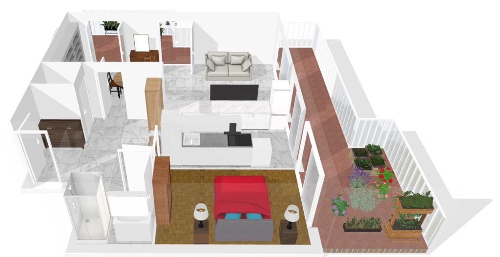 Visuel 3D - extérieur et intérieur - plans 3D