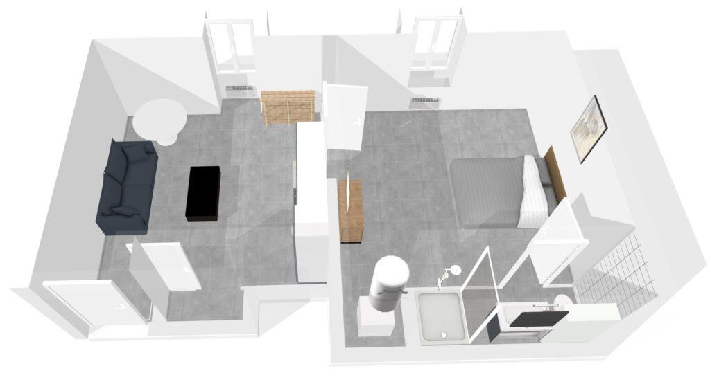 Plans 3D - Génération du visuel 3D - Appartement meublé