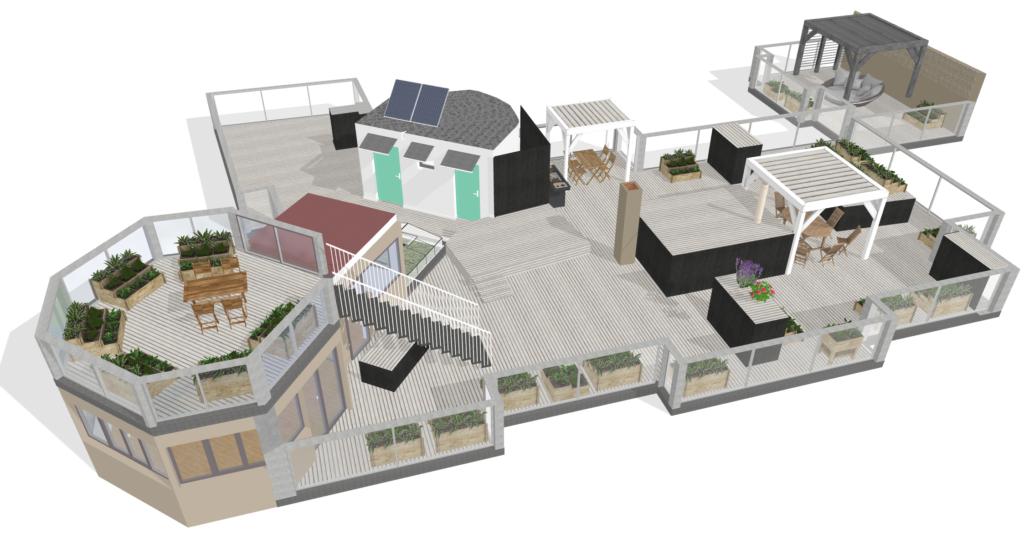 Terrasse - Plans 3D
